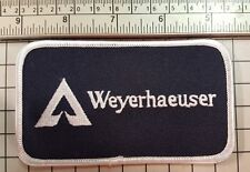 Federal Way WA Patch WEYERHAEUSER Forest & Paper Products White Letter Version