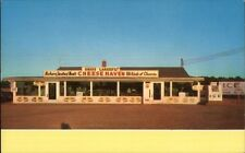 Pt. Clinton OH Cheese Haven Shop Roadside Chrome Map on Back Postcard