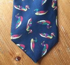 Duck Cravate Off the Cuff Pure Soie Cravate Bleu Italie Decoy