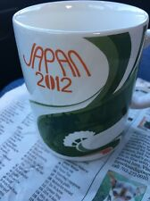STARBUCKS COFFEE CUP Mug Cup Rare Made In Japan Green And White 2012