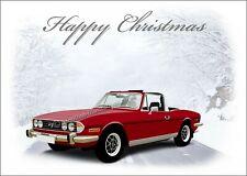 Triumph Stag Dad Son Classic Car  Christmas Greetings Card