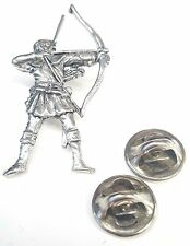 Archer / Robin Hood Handcrafted in Solid Pewter In UK Lapel Pin Badge