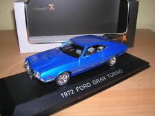Premium X 1972 Ford Gran Torino Blu Blue, 1:43 NUOVO + OVP LIM 500 pezzi