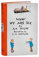 A.A. Milne & E.H. Shepard-NOW WE ARE SIX (1927)-1ST US ED-BRIGHT, NEAR FINE COPY