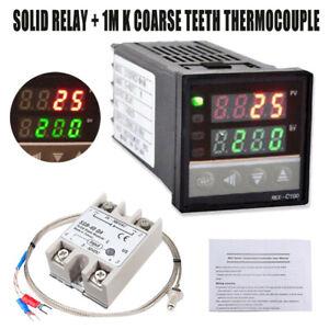 Digitaler LCD-PID-Temperaturregler REX-C100 mit K Thermoelement SSR Ausgang DE