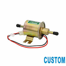 CUSTOM 12V Electric Fuel Pump Metal Solid Gas Diesel Inline Low Pressure HEP-02A