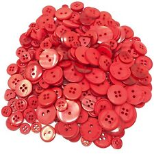 Red 100 Gram Mix Acrylic & Resin Buttons For Cardmaking Embellishments