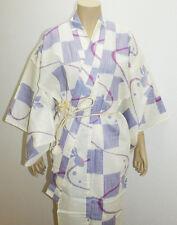 Japanese Yukata (an informal cotton kimono) White (100% cotton)