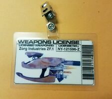 Fifth Element ID Badge-Weapons License costume prop Cosplay