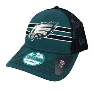 Philadelphia Eagles NFL New Era Mesh Trucker Snapback Cap (Green/Back) NWT