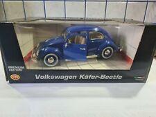 Burago Premium Edition VW Käfer  1:18 Blau
