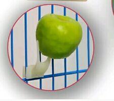 2 pz Forchetta  Portafrutta x Gabbia  uccelli tipo  pappagali, inseparabili, ecc