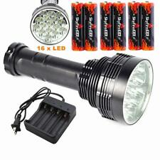 Rechargeable 20000LM 16x CREE XML L2 LED Tactical Flashlight Torch Lamp 6x18650