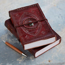 Indra Handmade XL Stitched Embossed Stoned Leather Journal Diary 2nd Quality