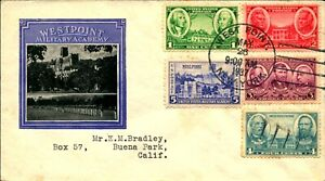 US #785-794 FDC Army-Navy Ioor Cachet Set of 2 May 26th, 1937