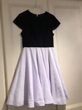 4824806b113144 Ladies Ted Baker Dress Size 2 Uk 10 Black   Lilac Wedding Race Day Occasion