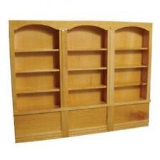 Dolls House Miniature 1:12th Scale Pine Triple Shop Shelves