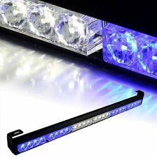 "Suv pare-chocs avant/toit 27"" bleu + blanc emergency warning strobe led light bar lampe"