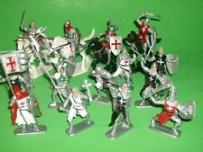 Plastic Medieval Holy Land Crusaders Knights Plastic Figures Set No. 34