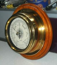 More details for vintage metamec brass ships bulkhead barometer nautical