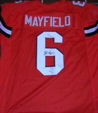 BAKER MAYFIELD Autographed Cleveland Browns Custom Jersey JSA