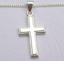 Männer Kreuz Anhänger Herrenschmuck Massiv Silber mit Kette Silberkreuz 925 neu