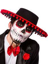 Adulto Para Hombre señoras Mexicano Español Senor Día De Los Muertos Fancy Dress Hat Nueva