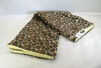"Leopard Print Baby Blanket Fleece Soft Polyester Yellow Back 33"" x 30"" T3"