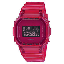 Casio G-Shock Digital Color Skeleton Red Jelly Clear Watch DW5600SB-4 New