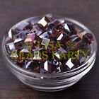 New 10pcs 10mm Cube Square Faceted Crystal Glass Loose Spacer Beads Fuchsia AB