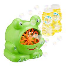 Seifenblasenmaschine Frosch Luftblasenmaschine Bubble Machine Bubblemaker Kinder