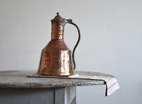 Antique Copper Brass Large Water Kettle /Jug / Pitcher, 19th Century, Sweden