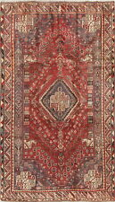 Antique Abadeh Tribal Nomad Collectable Wool Oriental Area Rug Red 5x9