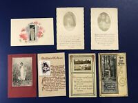 7 Novelty Greetings Antique Postcards w Photos Attached. For Collectors. Nice