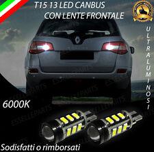 LAMPADE RETROMARCIA 13 LED T15 W16W CANBUS PER RENAULT KOLEOS 6000K NO ERROR