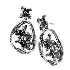 Or Paz  .925 Sterling Silver Multi Floral Dangle Earrings