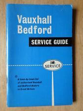 VAUXHALL BEDFORD orig 1962 Brochure Book of Authorised Dealers in UK