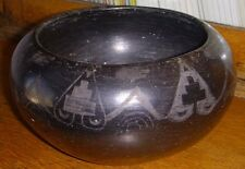 Formed & Decorated Early 20th C. San Ildefonso Native American Pottery Bowl