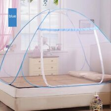 Bed Canopy Mosquito Net Netting Blue Home Bedding Queen Size Curtains Netting