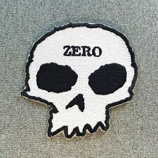 ZERO Die Cut Skull Skateboard Patch 3.5in Adhesive Iron on Patch si