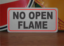No Open Flame Metal Sign