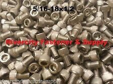(10) 5/16-18x1/2 Socket Allen Head Cap Screw Stainless Steel 5/16 x 1/2