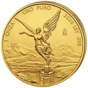 Mexiko - 2020 - Libertad - Siegesgöttin - Premium-Anlagemünze - 1 Oz Gold ST