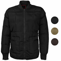 vkwear Men's Quilted Padded Insulated Heavyweight Puffer Bomber Jacket VAQ