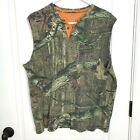 Mossy Oak Muscle Shirt Men Size L Camo Sleeveless Break Up Infinity Pocket