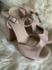 Missguided Mauve Pink Faux Suede Heels - Size 4 RRP £35.00💕