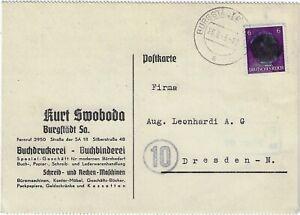 AP 785 III EF vom 28.6.1945 Burgstädt (OPD Leipzig); Geschäftspostkarte