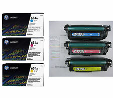 3PK Genuine HP 654A CF331A CF332A CF333A Toner Cartridge LaserJet M651 100% full