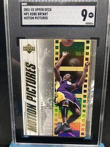 2001-02 Kobe Bryant Upper Deck Insert Motion Picture #MP1 Graded Mint 9 SGC