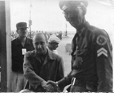 FOTOGRAFIA D'EPOCA ,Juan Manuel Fangio a CUBA NEL 1957,AUTO CAR RACE,MASERATI